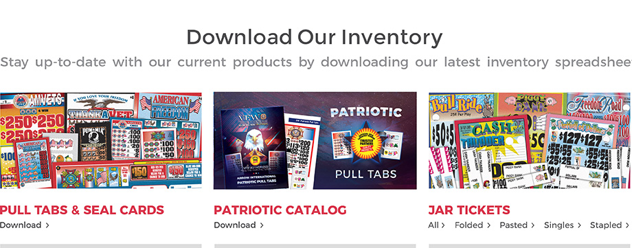 Download our inventory. We're currently updating our website. In the meantime, stay up to date with our current products by downloading our latest inventory spreadsheet.